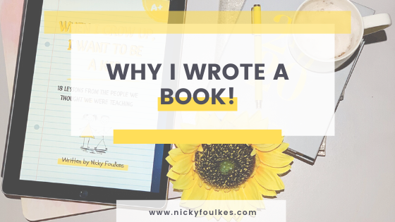 Why I wrote a book BLOG
